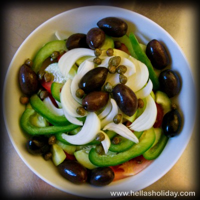 Greek Salad Recipe - Step 6: Capers