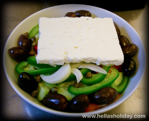 Greek Salad Recipe - Step 7: Feta