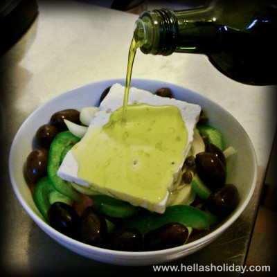 Greek Salad Recipe - Step 8: Olive Oil