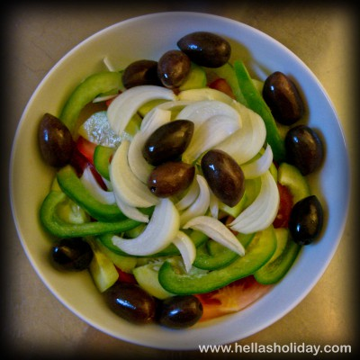 Greek Salad Recipe - Step 5: Olives