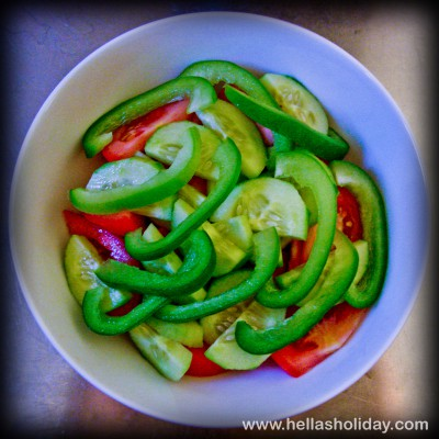 Greek Salad Recipe - Step 3: Green Pepper