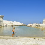 Sarakiniko beach in Milos, Greece