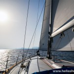 Sailing towards Ermioni in the afternoon
