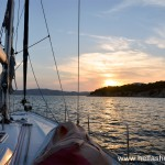 Sailing towards Ermioni at sunset