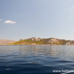 Sailing past Moni and Aegina