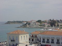 Spetses Town in Greece